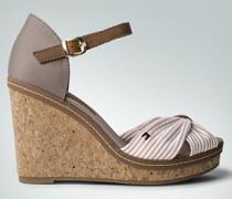 Damen Schuhe Wedges im Muster-Mix