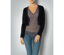 Damen Pullover Bolero mit Kontrastdetails