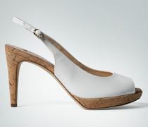 Damen Schuhe Peeptoes mit Kork-Details