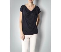Damen Shirt mit Wasserfall-Ausschnitt
