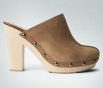 Damen Schuhe Pantolette mit Holzsohle