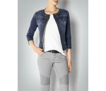 Damen Jeansjacke mit Schmuckapplikation ,