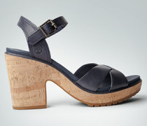 Damen Schuhe Plateau-Sandalen aus Leder