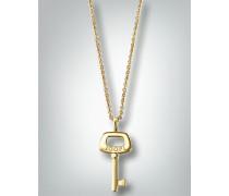 Damen Schmuck Halskette mit Schlüssel-Anhänger