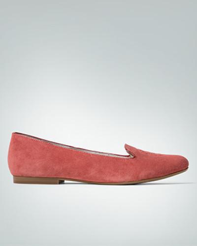 Damen Schuhe Smoking-Slipper aus Veloursleder