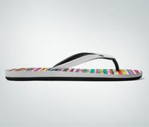 Damen Schuhe Zehensandale im Streifen-Look