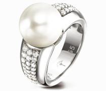 Damen Schmuck Ring Zirkonia-Perle 925er Sterlingsilber