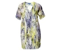 Damen Kleid Tunika Baumwolle-Seide -violett
