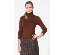Damen Pullover Rolli Baumwolle deer