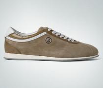 Damen Schuhe Sneaker, Velours-Lack, khaki