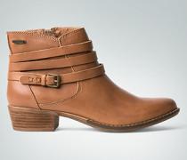 Damen Schuhe Stiefelette mit drei zierenden Lederriemen