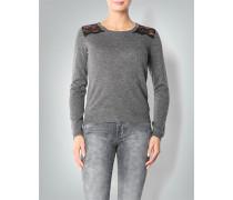 Damen Pullover mit Spitzeneinsatz
