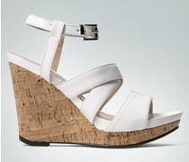 Damen Schuhe Wedge-Sandalette in Leder-Mix und Kork
