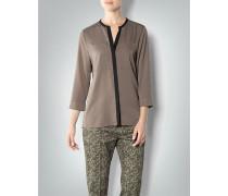 Damen Bluse mit Kontrast-Detail aus Crêpe