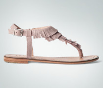 Damen Schuhe Zehensandale im Fransen-Look