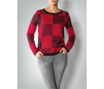 Damen Pullover mit Schachbrettmuster