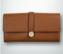 Damen Geldbörse aus geprägtem Leder