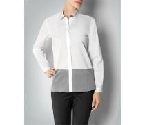 Damen Bluse in Bicolor-Optik