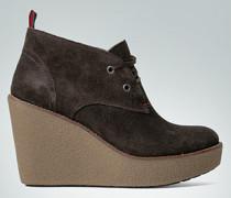 Damen Schuhe Ankle-Boot mit Keilabsatz