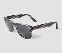 Brille Sonnenbrille mit melierter Optik