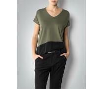 Damen T-Shirt im Two-Tone-Look