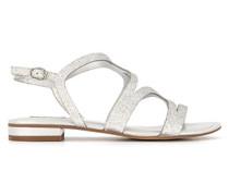 Schuhe Riemensandalen mit Glitzereffekt
