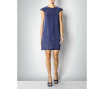 Damen Kleid in Velours-Optik