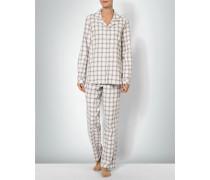 Damen Nachtwäsche Pyjama aus Baumwoll-Flanell