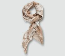 Schal mit Allover Kornblumen-Dessin