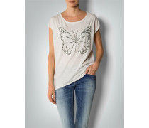 Damen T-Shirt mit Schmetterling Applikation