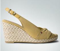 Damen Schuhe Sling-Sandaletten mit Keilabsatz