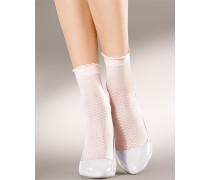 Damen Socken Socken mit Rüschenabschluss
