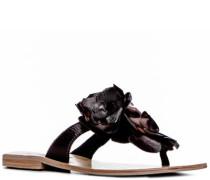 Damen Schuhe Zehensandale Leder dunkel