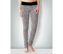 Damen Nachtwäsche Leggings mit Animal-Print