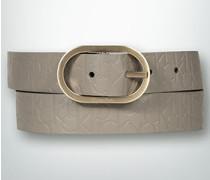 Damen Gürtel Gürtel mit Allover-Logo
