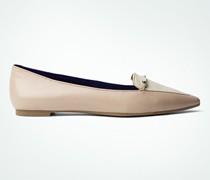 Damen Schuhe Slipper mit Zierspange