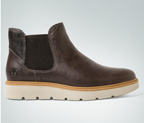 Damen Schuhe Chelsea Boot mit Keilabsatz