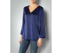 Damen Shirt-Bluse aus Seiden-Stretch