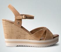 Damen Schuhe Wedge-Sandaletten aus Nappaleder