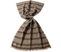 Damen Schal Alpaka-Wolle-Mischung, Streifen taupe