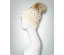 Damen Mütze mit Echtpelz-Besatz