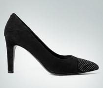 Schuhe Pumps aus Veloursleder mit zierenden Nieten