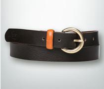 Damen Gürtel Gürtel mit kontrastfarbener Schlaufe ,schwarz