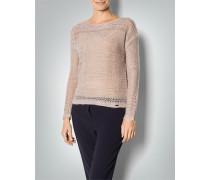 Damen Pullover mit unregelmäßigem Lochmuster