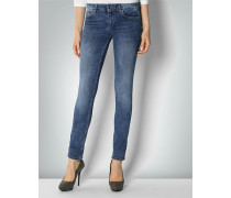 Jeans mit Bottom-Up-Nähten
