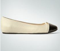 Damen Schuhe Ballarinas mit kontrastierender Lackkappe