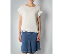 Damen Pullover Top mit Fransenabschluss
