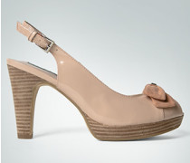 Damen Schuhe Lack-Sandalette mit Schleife