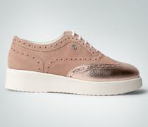 Damen Schuhe Plateau-Sneakers im Material-Mix