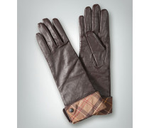 Damen Handschuh mit Umschlag im Karo-Dessin